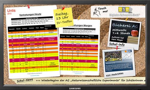 Digitales Schwarzes Brett für Schulen - Schulfuchs.de
