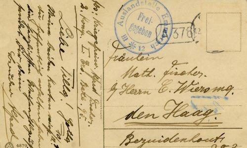 Briefe und Postkarten aus dem Ersten Weltkrieg - Schulfuchs.de